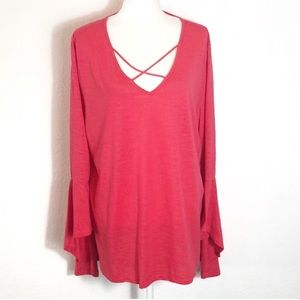 Umgee plus size bell sleeve top